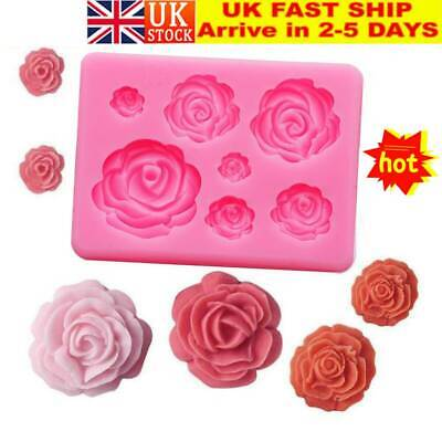 Silicone Mold 3D Cake Decorating Kit Rose Flowers Mould For Soap Candy UK • 4.16£