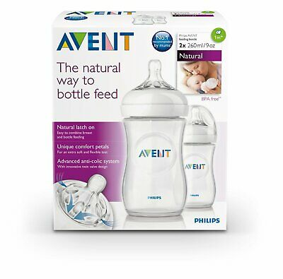 AU26.95 • Buy Philips Avent Natural Lactation Feeding Bottle  260mL BPA Free Anti Colic 2 Pack