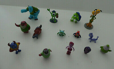 14  MONSTERS INC HIGH SCHOOL FIGURES  MIKE, SULLY, BOO - Cake Toppers    DISNEY • 17.50£