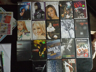$ CDN27.21 • Buy MUSIC DVDs LOT OF 18 ASSORTED MUSIC/CONCERT  FREE SHIPPING !!!!!!!!!