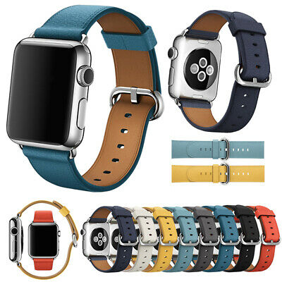 AU11.99 • Buy For Apple Watch Band Genuine Leather Strap IWatch Series 5 4 3 2 1 38 40 42 44mm