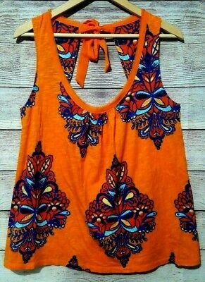 $ CDN34.01 • Buy Akemi + Kin Anthropologie Women's Tie Back Blouse Tank Top Large XL Orange