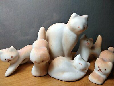 """$ CDN237.86 • Buy GZHEL A Rare Porcelain Composition """"Cat And Kittens"""" USSR 1950s"""