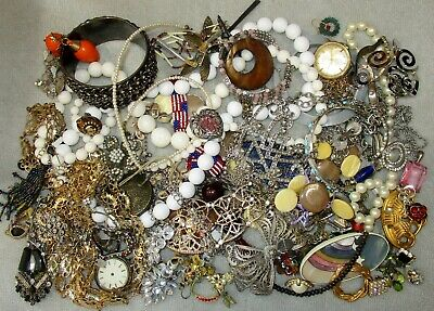 $ CDN27.15 • Buy Jewelry Lot LBS Vintage - Now Junk Drawer Harvest Craft Unsearched Untested A3