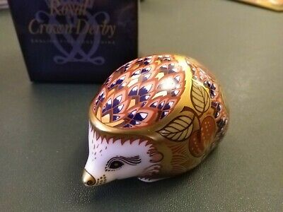 Royal Crown Derby Paperweight Orchard Hedgehog Collector's Guild Gold Stopper • 21£