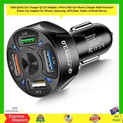 AU23.49 • Buy Quick Charge 3.0 Car Charger RAVPower 40W 3A Car Adapter With Dual QC USB Ports