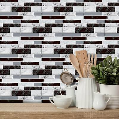 Mosaic Sticker Kitchen Tile Stickers Bathroom Self-adhesive Wall Decor Home 2020 • 16.99£