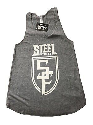 Steel Fitness Clothing Women's Vest Grey With White Logo - Medium • 20£