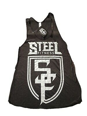 Steel Fitness Clothing Women's Vest Black With White Logo - Small • 20£