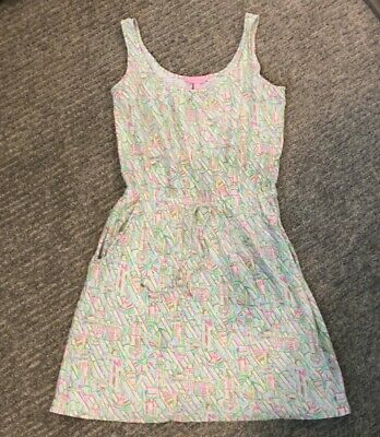 $30 • Buy LILLY PULITZER ~ KORI Dress In Guiding Light Sleeveless Lighthouse Tank Sz S
