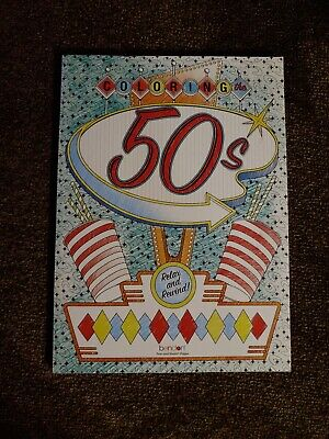 $5 • Buy New Adult Coloring Book Coloring The 50s From Bendon