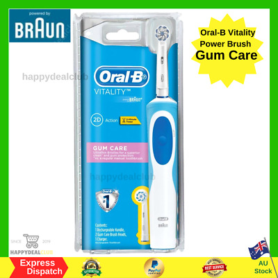AU26.99 • Buy Oral-B Vitality Power Brush Gum Care Rechargeable Electric Toothbrush 2 Refills