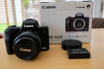 View Details Canon EOS M50 Mirrorless Digital Camera With 15-45mm Lens - Black (2680C011) • 400.00£