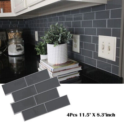 UK Kitchen Wall Sticker Subway DIY Self Adhesive Sticker Brick Tile Peel Stick • 12.34£