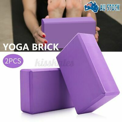 AU14.99 • Buy 1/2Pcs Yoga Block Brick Foaming Home Exercise Practice Fitness Gym Sport Tool AU