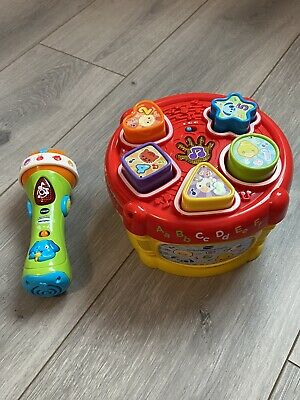 VTech Baby Sing Along Microphone & Sort And Discover Drum Toy Bundle • 5£