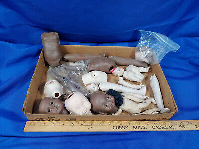 $ CDN54.13 • Buy Huge Bisque Porcelain VTG Baby Doll Parts Lot Twins African American Antique-