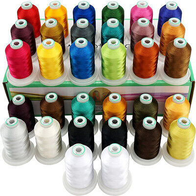 32 Spools Janome Colors Embroidery Machine Thread 1100Y Each Spool -Assortment 3 • 35.99£
