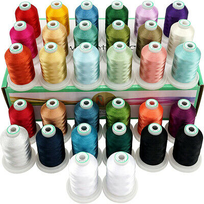 32 Spools Janome Colors Embroidery Machine Thread 1100Y Each Spool -Assortment 2 • 35.99£