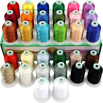 32 Spools Janome Colors Embroidery Machine Thread 1100Y Each Spool -Assortment 1 • 40.99£