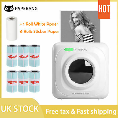PeriPage Printer Thermal Photo Portable Wireless Mini Pocket With 9 Rolls Paper • 35.14£