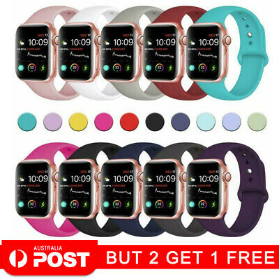 AU5.89 • Buy For Apple Watch IWatch Series 2345 Silicone Replacement Strap Band 38 40 42 44mm