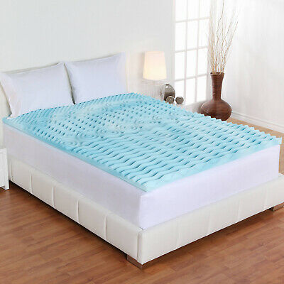 $ CDN68.56 • Buy Authentic Comfort 4-Inch Orthopedic 5-Zone Memory Foam Mattress Topper Twin Size