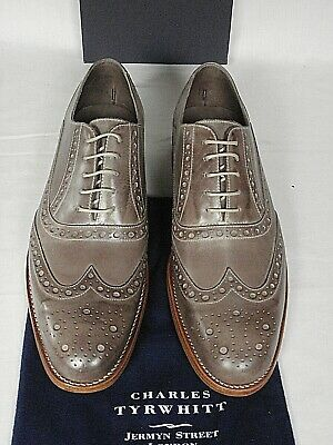 £169 • Buy NEW Men Charles Tyrwhitt Biscuit Calf Leather Brogue Sleek Lace Up Shoes UK 9