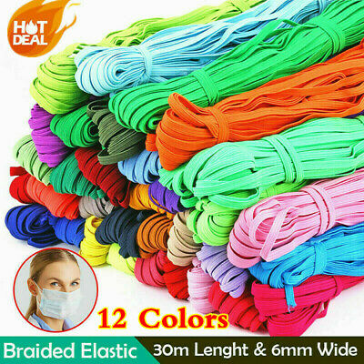$ CDN10.89 • Buy Magic Colorful Sewing 33 Yards Length 6mm Elastic Band DIY Elastic Cord 1/4inch√