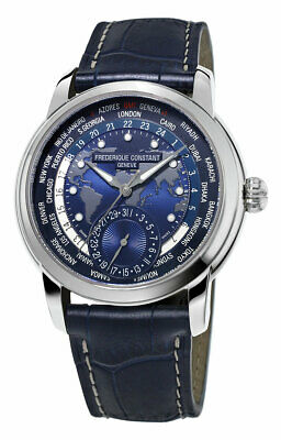 $2449 • Buy Frederique Constant Worldtimer Manufacture Automatic Mens Watch FC-718NWM4H6
