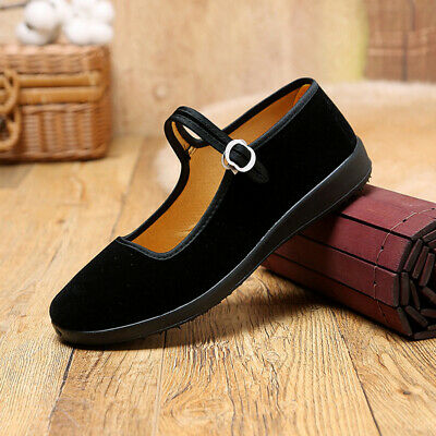 £9.99 • Buy Women Flat Casual Buckle Loafers Work Comfort Dance Chinese Round Toe Shoes Soft