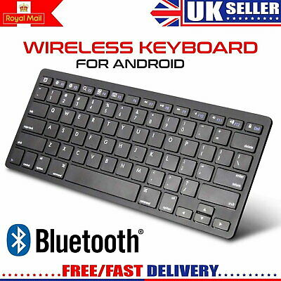 Slim Wireless Bluetooth Keyboard For Imac Ipad Android Phone Tablet Uk • 9.99£