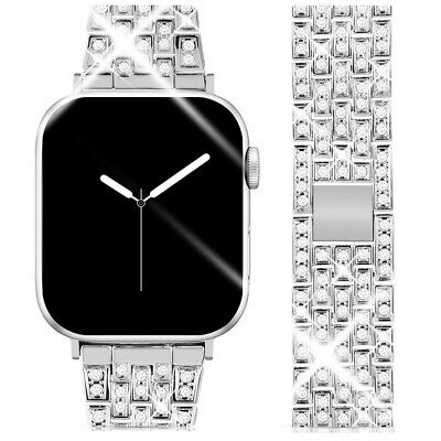 AU9.52 • Buy Bling Bracelet Wristband For Apple Watch Bands 38mm 42mm IWatch Series 5 4 3 2 1