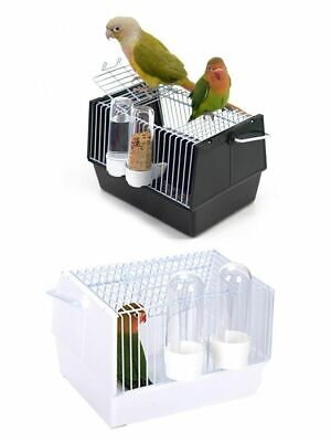 £32.57 • Buy Bird Cage With Food Feeders Portable Parrot Travel Canary Carrier Pet Supplies