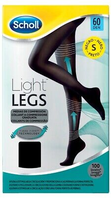 Scholl Light Legs Compression Tights Black 60 Den Small Nude P&P • 5.99£