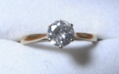 Special Vintage Diamond Solitaire 70 Points In 18ct Yellow Gold • 575£