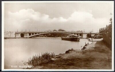 Reading Bridge Over River Thames. 1943 Real Photo Postcard. Free Postage • 3.95£