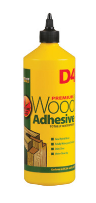 Everbuild D4 Wood Adhesive - White, 1 L • 11.99£