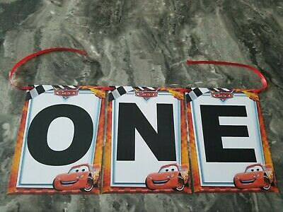 $6 • Buy One Lighting McQueen Cars 95 Banner Birthday Decorating Party, High Chair Sign