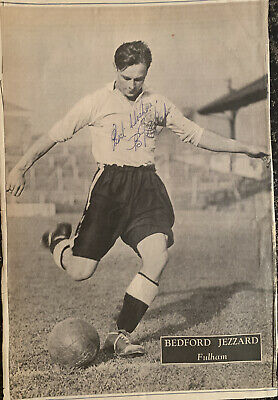 Signed Bedford Jezzard Fulham 1950s Football Autograph Poster England • 12.99£