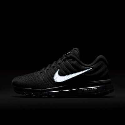 $140 • Buy Nike Air Max 2017 Men's(BLACK) Running Shoes - Movement - Fitness