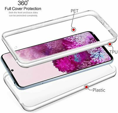 360 Front And Back Case Silicone Gel Cover TPU For Huawei P40 / P30 / Pro / Lite • 2.99£