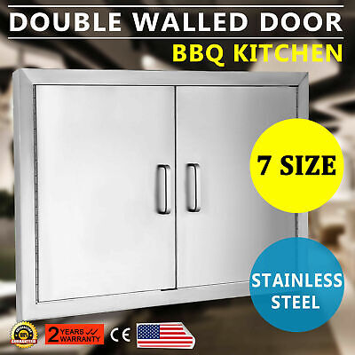 $89.90 • Buy New 30  Outdoor Kitchen / Bbq Island Stainless Steel Double Access Door Usa Made