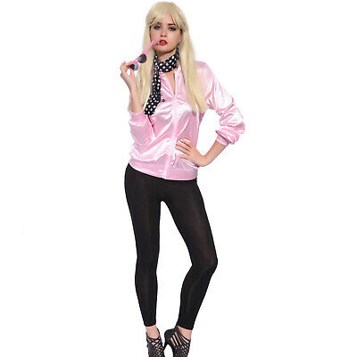 AU25.29 • Buy 50s Grease Pinky Lady Ladies Jacket Top T-shirt Fancy Dress Up Costume AU 6 - 20