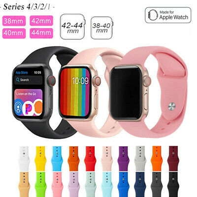 AU4.99 • Buy For Apple Watch IWatch Series 5 3 4 38/40/42/44mm Soft SILICONE Sport Strap Band