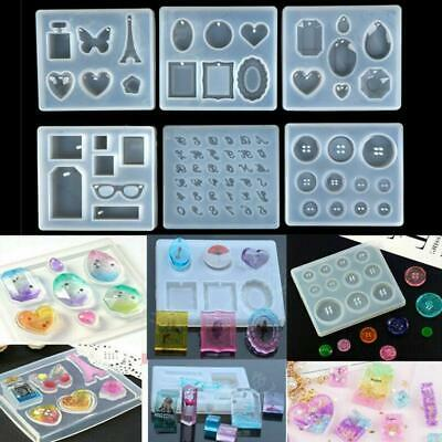Jewelry DIY Mold Resin Casting Molds Silicone Pendant Mould Making Craft Kit UK  • 4.56£