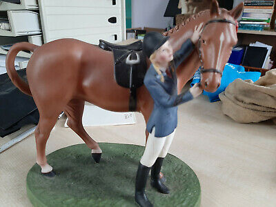 Franklin Mint Horse Pony & Rider First Prize British Horse Society Porcelain Vgc • 10£