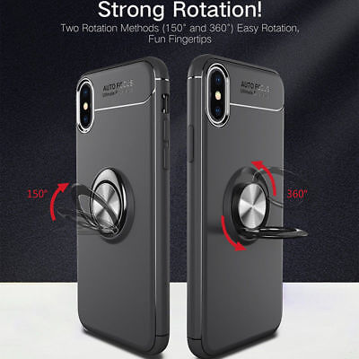 AU7.96 • Buy For IPhone 6 6S 7 8Plus XS Magnetic TPU Rubber Case Cover With Ring Stand Holder