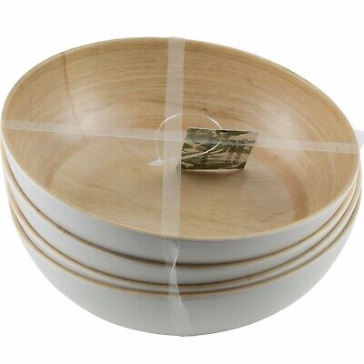 $24.95 • Buy Tommy Bahama Faux Bamboo Wood Grain Bowls Melamine Set Of 4