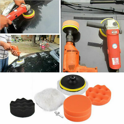 6x 3 Inch Sponge Buffing Polishing Pad Kit For Car Polisher With Drill Adapter • 4.99£